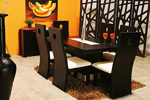Comedores y muebles en madera bogota colombia comedores - Colores para comedores pequenos ...