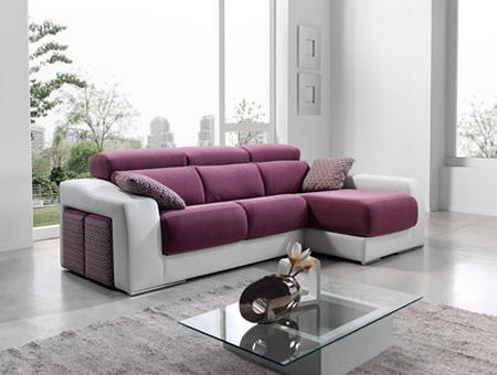 Salas en l auto design tech for Sofas modulares de tela